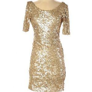 Ark & Co.  gold cocktail dress